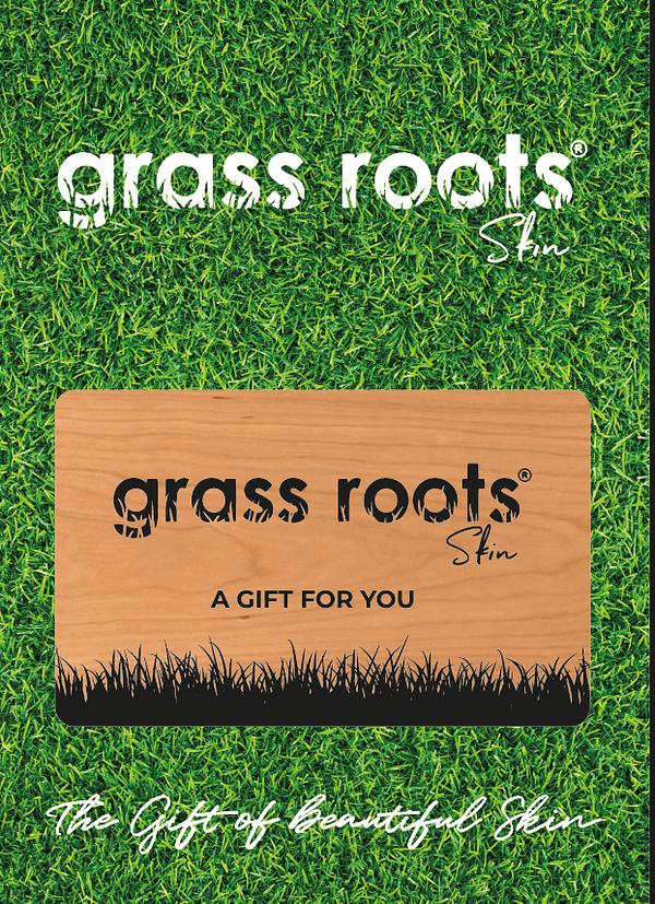 grass roots skin gift voucher